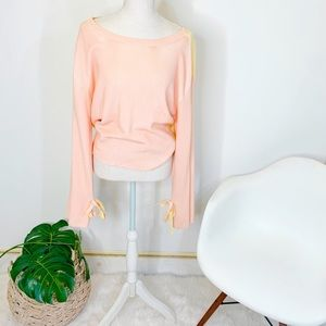 NEW MARGARET O'LEARY SCOOP NECK SWEATER M pink